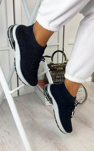 Kaia High Top Sock Trainers in Black