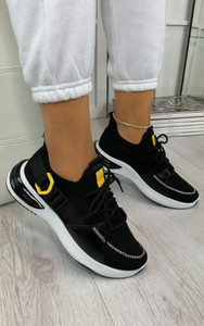 Camelia Sock Pull Up Trainers in Black