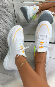 Camelia Sock Pull Up Trainers in White
