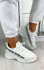 Kalena Fashion Trainers in White