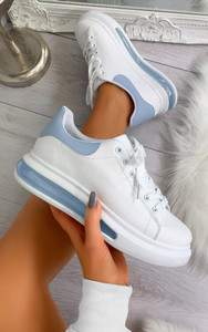 Mai Transparent Sole Panel Trainers in Blue