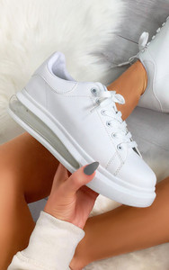 Mai Transparent Sole Panel Trainers in White