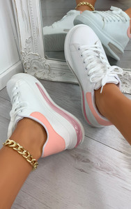 Mai Transparent Sole Panel Trainers in Pink