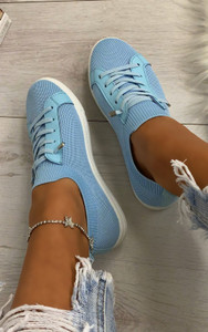 Lani Slim Sole Trainers in Blue