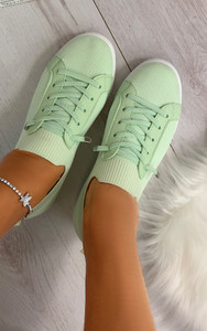 Lani Slim Sole Trainers in Green