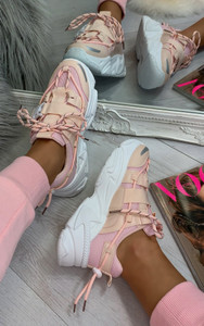 Candy Chunky Trainers in Blush