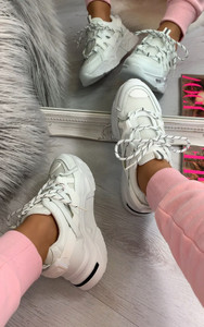 Nadia Chunky Trainers in White