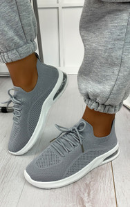 Elaina Knitted Trainers in Grey