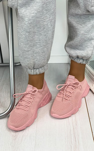 Polina Knitted Trainers in Pink