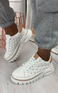 Posy Chunky Trainers in Champagne