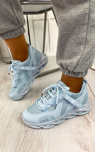Tamika Chunky Panelled Trainers in Blue