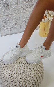 Jessica Knitted Trainer in White