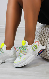 Edite Knitted trainers in White