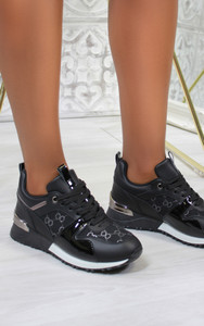 Iria Printed trainers in Black