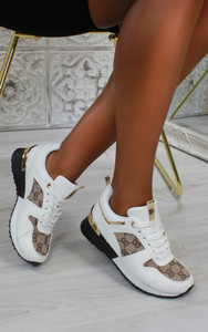 Iria Printed trainers in White