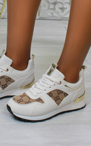 Iria Printed trainers in Beige