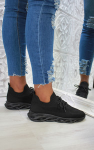 Marissa Bubble sole trainers in Black