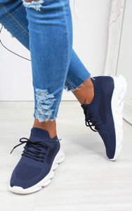 Marissa Bubble sole trainers in Navy