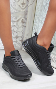 Eden Air Sole Ombre Trainers in Black