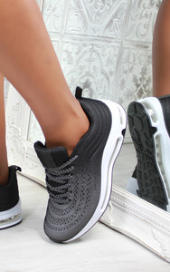 Eden Air Sole Ombre Trainers in Black / Grey
