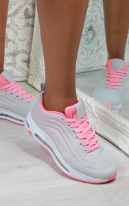 Eden Air Sole Ombre Trainers in Grey / Pink