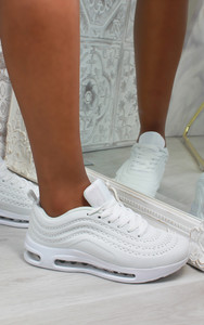 Eden Air Sole Ombre Trainers in White