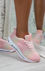 Eden Air Sole Ombre Trainers in Blush / Colorful