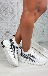 Leal Chunky Sole Knit Trainers in White