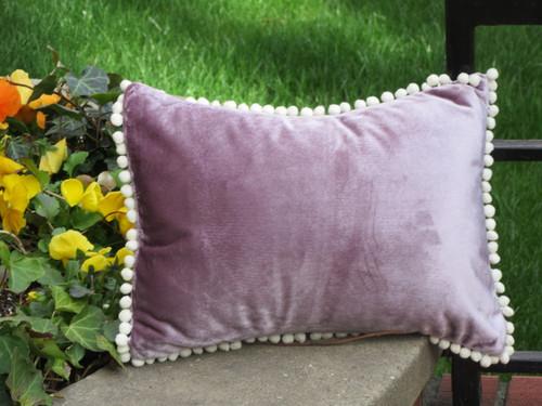 Lavender Pom Pom pillow