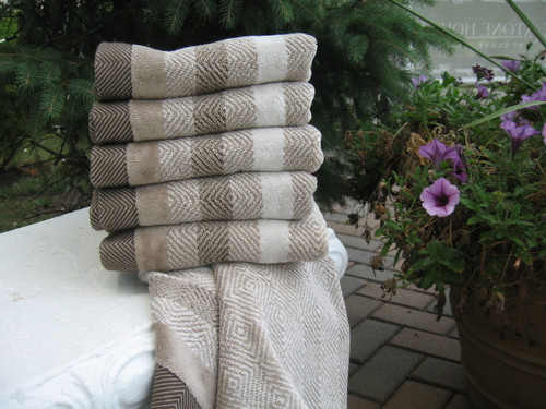 Brown Herringbone Towel