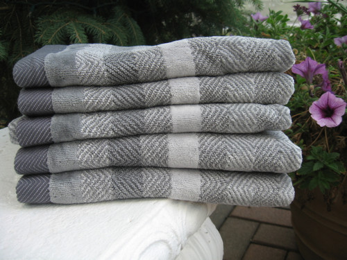 Grey Herringbone Towel