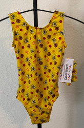 ONLY 1 AVAILABLE IN THIS SIZE AND STYLE! Closeout gymnastics and/or dance leotard in the print shown.  Free scrunchie as always!  Due to the discount prices there are no returns or exchanges on these items.