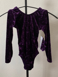 ONLY 1 AVAILABLE IN THIS SIZE AND STYLE! Closeout long sleeve gymnastics and/or dance leotard in the print shown.  Free scrunchie as always!  Due to the discount prices there are no returns or exchanges on these items.