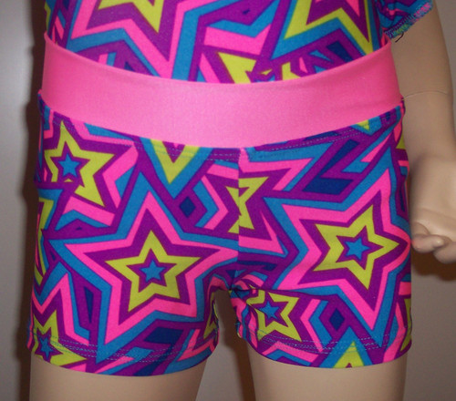 STAR CRAZED shorts with pink waistband.