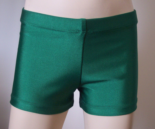 Perfectly priced green spandex gymnastics and/or dance shorts.