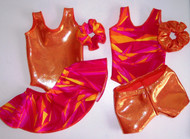 """MIX & MATCH - 2 leotards, 1 pair shorts, 1 skirt and 2 scrunchies in the hologram, metallic or standard spandex fabrics shown.  Jillybeans 18"""" doll leotards were made to fit the American Girl Dolls, but will fit most other 18"""" similar body type dolls, including My Life and Our Generation.  All items will be tagged and bagged prior to shipment. FREE SHIPPING ON OUR DOLL LEOTARDS!"""