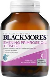 EPO Evening Primrose Oil and Fish Oil Capsules 1000mg 100 Blackmores