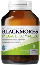 Mega B Complex Tablets 200 Blackmores