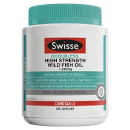 Wild Fish Oil Odourless High Strength 1500mg 400 Caps Swisse UltiBoost
