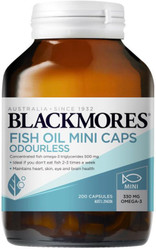 Odourless Fish Oil 200 Mini Caps Blackmores