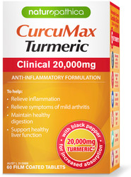 CurcuMax Turmeric Clinical 20000mg 60 tabs x 3 Pack Naturopathica