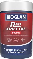 Red Krill Oil Triple Action 500mg 120 Caps x 3 Pack Bioglan