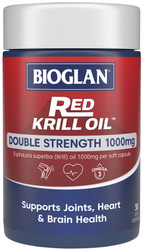 Red Krill Oil Double Strength 1000mg 30 Caps x 3 Pack Bioglan