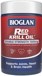 Red Krill Oil Double Strength 1000mg 60 Caps x 3 Pack Bioglan