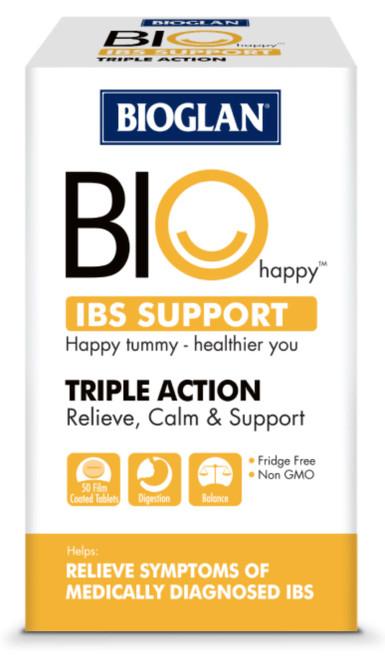 IBS Support 50 Tabs x 3 Pack Bioglan BioHappy
