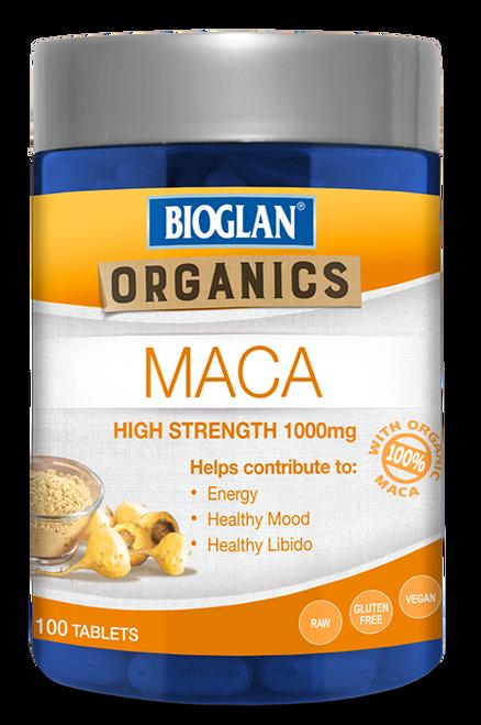 Maca 1000mg 100 Tabs x 3 Pack Bioglan SuperFoods