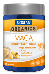 Maca 1000mg 100 Tabs x 3 Pack Bioglan SuperFoods