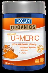 Organic Turmeric 1000mg 100 Tabs x 3 Pack Bioglan Organics