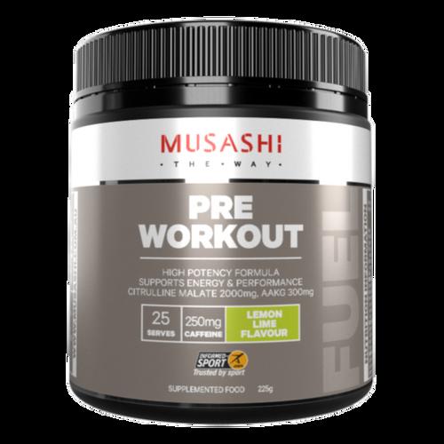 Pre-Workout Lemon Lime 225g Musashi