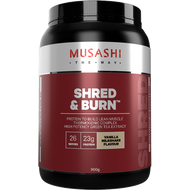 Shred and Burn Vanilla 900g Musashi